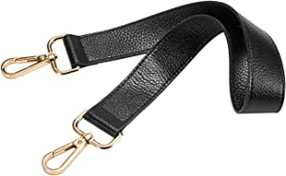 25 inch Leather Replacement Strap for Handbags Shoulder Bag Gold Tone Buckles