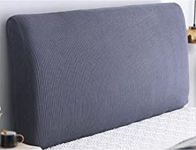 Stretch Solid Color Headboard Slipcover All Inclusive Headboard Dustproof Cover for Bedroom Headboard Decoration Bed Head ...