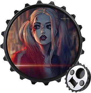 Harley Quinn flasköppnare/kylmagneter ett lock flerfunktionell ölflasköppnare, möbler kylskåp dekoration klistermärke