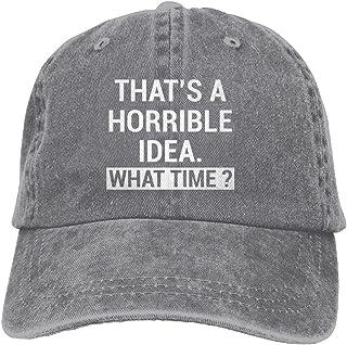 37c0809c118 MANMESH HATT That s A Horrible Idea What Time Unisex Adult Adjustable Retro  Dad Hat