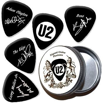 U2 Black Púas de guitarra con estaño Tin (HB): Amazon.es ...
