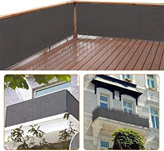 Best zimo Balcony Privacy Shield Sun Protection Opaque Weather-Resistant Balcony Cover Fence Privacy Screen 3×16.4