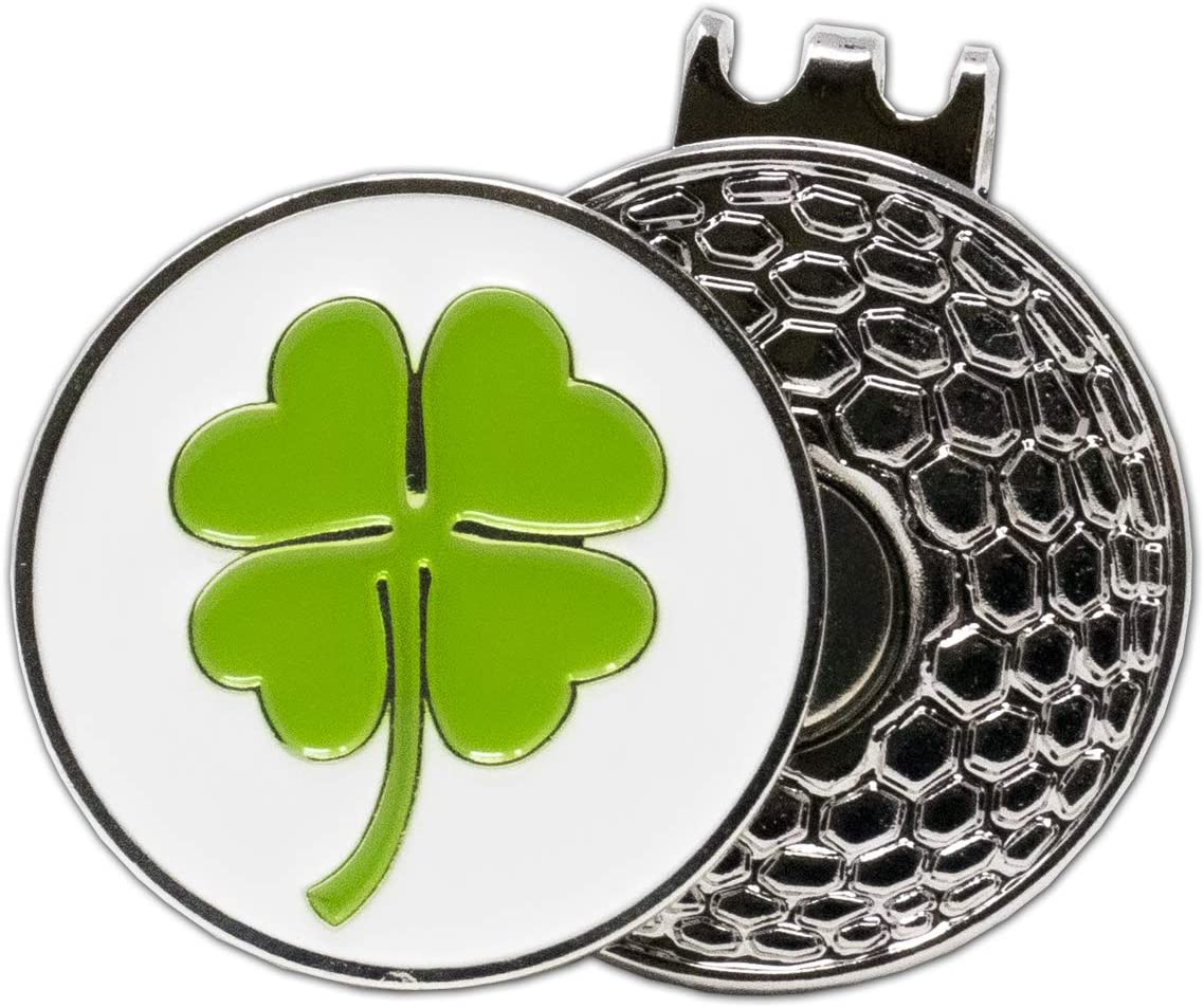 DA VINCI Magnetic Golf Hat Clip with 1 Inch Embossed Metal Golf Ball Marker (Shamrock) : Sports & Outdoors