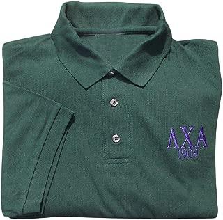 Mens Lambda Chi Alpha Founders Polo Shirt XXX-Large Green