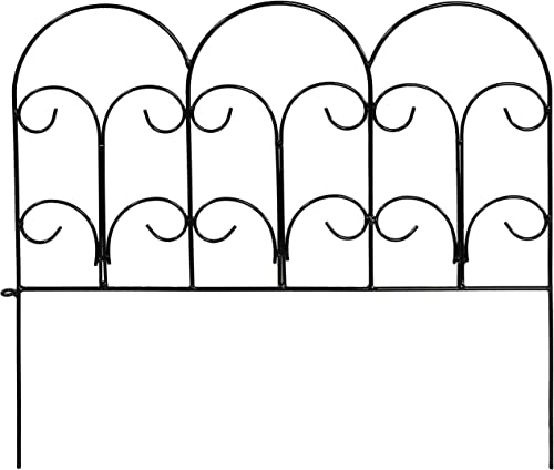 2021 Sunnydaze 5-Panel Victorian Border Fence Set - 7.5-Foot outlet sale Overall Length - Decorative Metal Garden and Landscape Fencing - 18 Inches Wide x 16 popular Inches Tall Per Piece sale