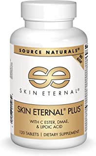 Source Naturals Skin Eternal Plus Dietary Supplement with C Ester, DMAE, and Lipoic Acid - 120 Tablets