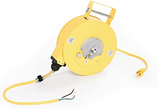 Woodhead 963 Cord Reel with 100W Super-Safeway Hand Lamp - NEMA 1 Extension Cord Case with 16/3 SJTOW, 35ft. Cord