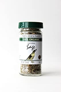 McFadden Farm Organic Sage, Dried Herb, Grown and packed in the U.S.A., 0.28 oz in glass jar