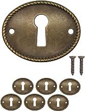 FUXXER® - 6 x antieke sleutelborden, slotrozetten, slotbeslag, afdekking voor sloten, sleutelgat, vintage messing design, ...