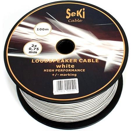 Lautsprecherkabel 2x0 75mm2 100m Weiss Cca Elektronik