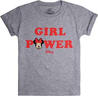 Disney Girl's MINNIE MOUSE - GIRL POWER T - Shirt