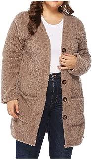 neveraway Women's Open Front Knit Single Button Slit Pocket Windbreaker Jacket
