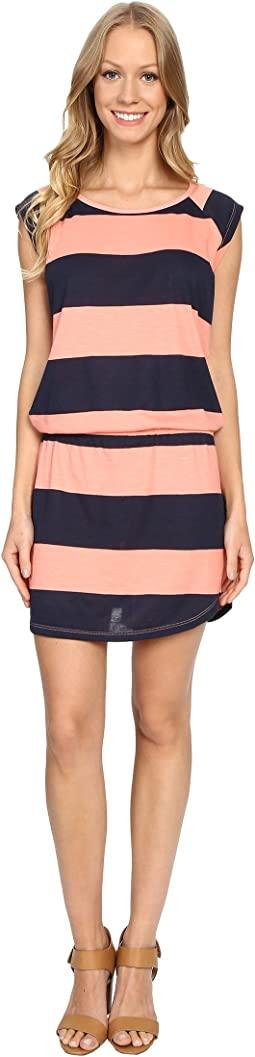 Stripe Short Sleeve Raglan Dress