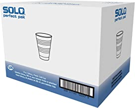 Dart Y10PFTPK Perfect Pack 10 oz Trans Ribbed Wall PS Cup (Case of 500)