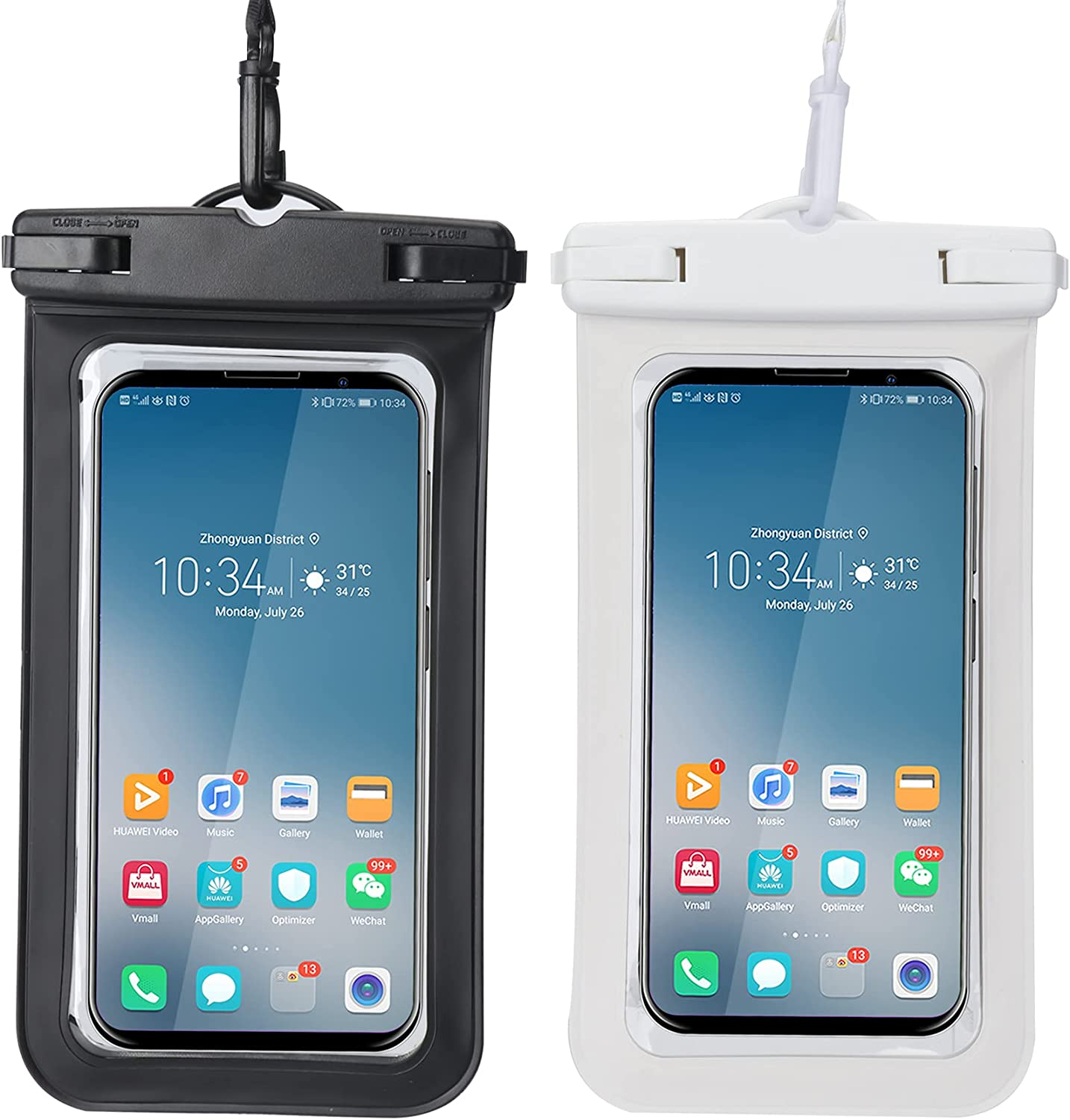 Universal Waterproof Phone Pouch, [2-Pack] Cell Phone Underwater Dry Bag Waterproof Case Compatible for 99.99% Smartphone in Market Up to 7 Inch Waterproof Phone Case for iPhone 12 11 SE XS XR X