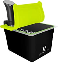 EVERIE Sous Vide Container with Universal Silicone Lid and Sous Vide Rack and Container Sleeve Compatible with Anova All Models, Anova Nano, Chefsteps Joule, Instant Pot, Wancle Sous Vide Cooker ( KIT-TY-GJ)