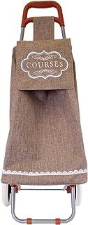 Marrone Poliestere TOTALLY ADDICT SH1695 Carrello per la spesa Cottage 35,5 x 32 x 95 cm