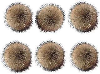 6pcs 15cm Fluffy Faux Fox Fur Pompom Ball con Cavo Elastico per Portachiavi Ciondolo Chiave Borsa per Maglieria Borsa Acce...