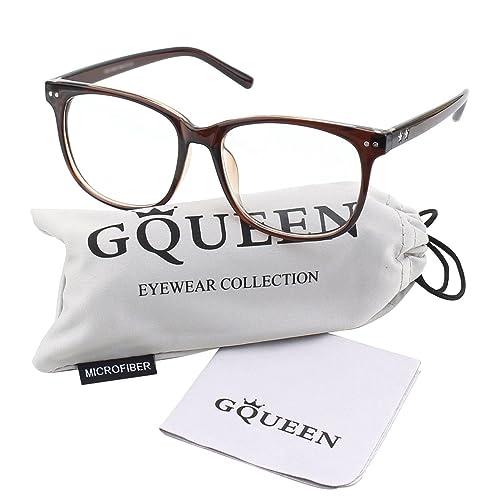 4f0ec3828c GQUEEN Large Oversized Frame Horn Rimmed Clear Lens Glasses PE1