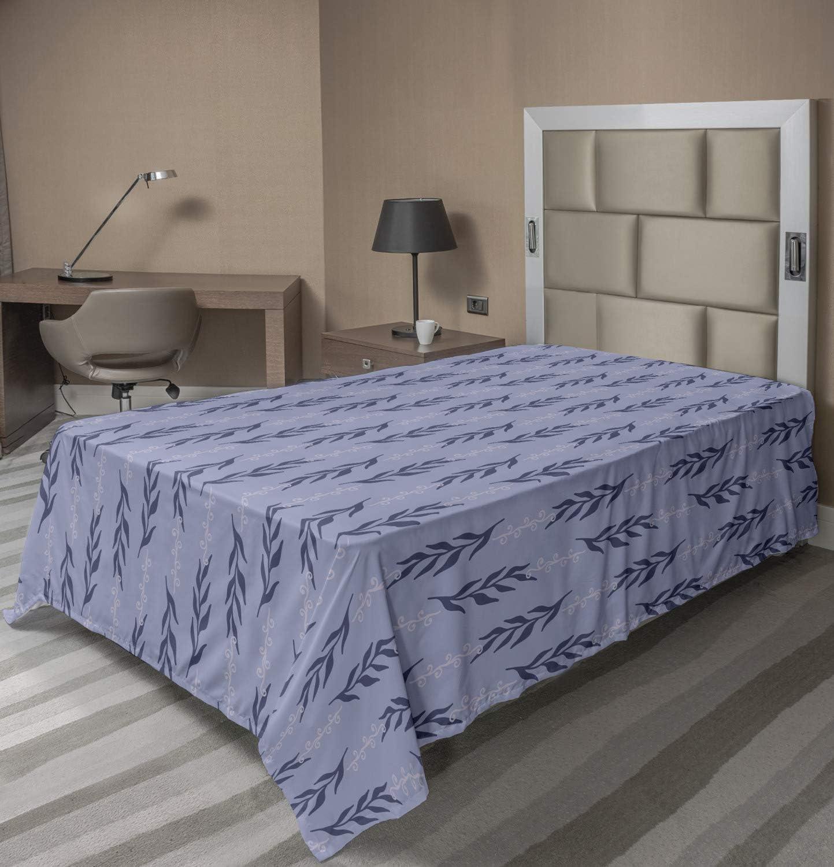 Max 76% OFF Ambesonne Violet Flat Sheet Modern Excellence Seaw Plant Ornamental Marine