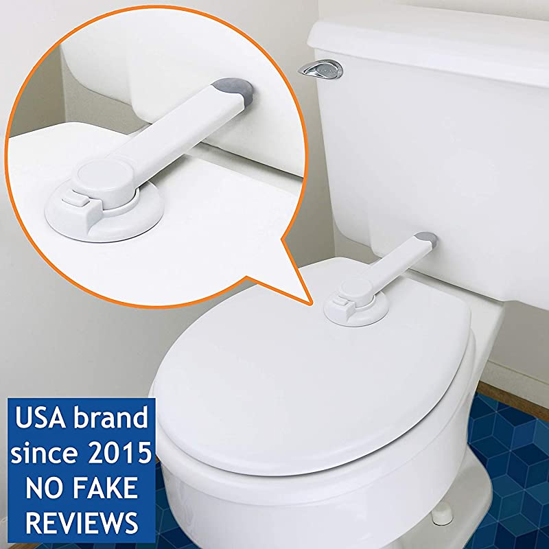 Baby Toilet Lock By Wappa Baby Ideal Baby Proof Toilet Lid Lock With Arm No Tools Needed Easy Installation With 3M Adhesive Top Safety Toilet Seat Lock Fits Most Toilets White 1 Pack