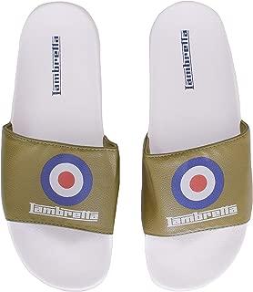 Lambretta Mens Bullseye Target Casual Summer Holiday Flip Flop Slip On Sliders