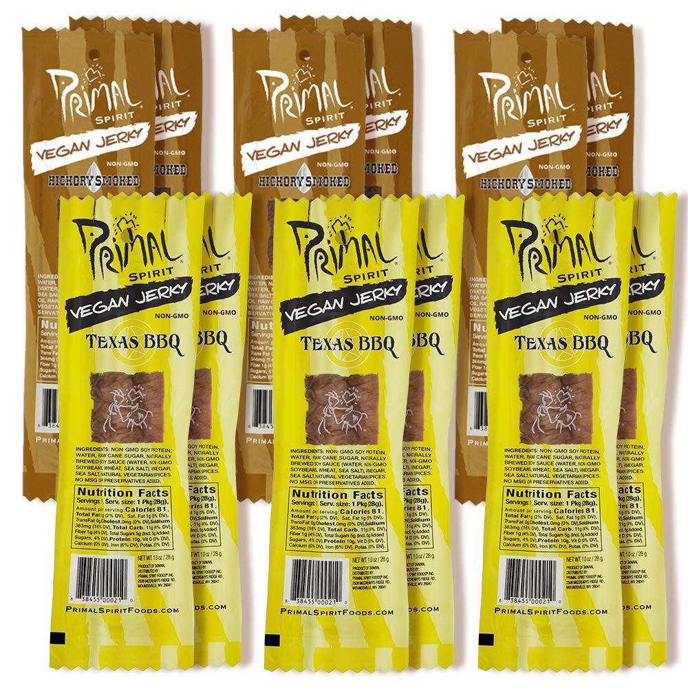 Primal Spirit Vegan Jerky - Soy g. 10 Plant Bombing new work Energy Protein Pack OFFer