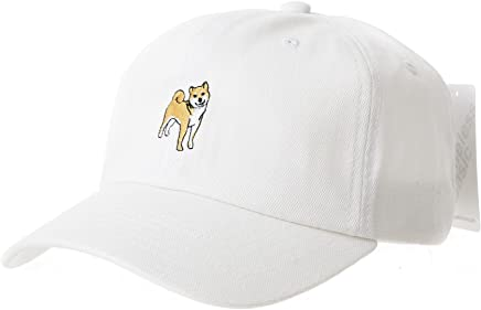 WITHMOONS Baseball Cap Dog Embroidery Shiba Inu Doge Hachi-ko AL1895 (Beige) at Amazon Mens Clothing store: