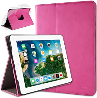 comprar comparacion doupi Deluxe Protección Funda para iPad 2 3 4, Smart Sleep/Wake Up función 360 Grados giratoria del Caso del Soporte Bolsa...