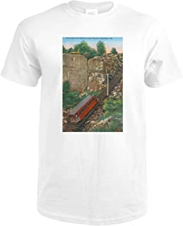 Chattanooga, Tennessee - Lookout Mountain Incline Rail Ascending 34312 (Premium White T-Shirt XX-Large)