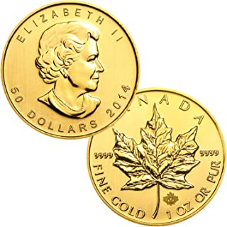1 Ounce Canadian Gold Maple Leaf $50 Brilliant Uncirculated