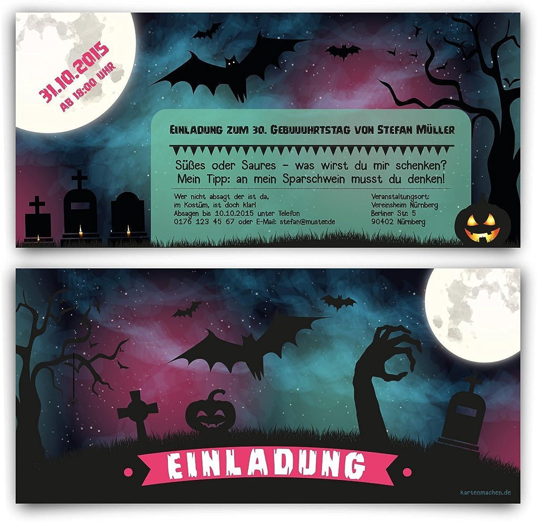 Einladungen zum Geburtstag (40 (40 (40 Stück) im Halloween Motiv 31. Oktober Einladungskarten B0130D2EM0 | Lassen Sie unsere Produkte in die Welt gehen  e70a26