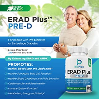 ERAD Plus Pre-D for Healthy Pancreatic Beta Cell Function – A Diabetes Support Supplement to Promote Healthy Pancreatic Beta Cell Function and Lower Blood Sugar Naturally (150 Tablets)