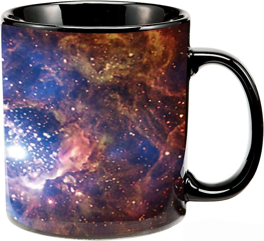 Vandor 61068 Smithsonian Space 20 Oz Heat Reactive Ceramic Mug Multicolored