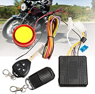Carvicto - 12V Motorcycle Anti-theft Scooter Compact Security Alarm System with Remote Control Engine Start for Suzuki for Honda for Yamaha