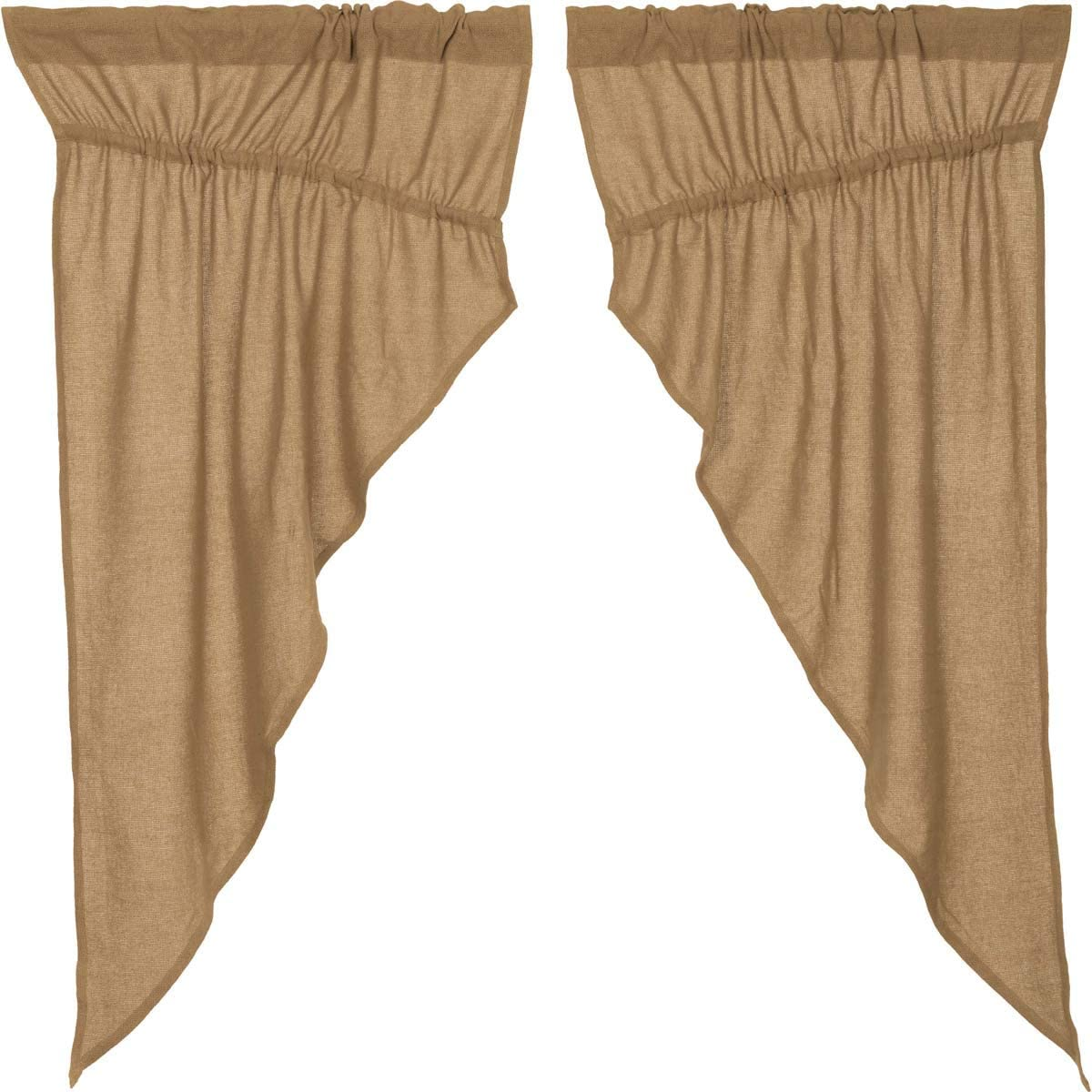 VHC Special price for a limited time Brands Burlap Natural Curtain low-pricing T Panel Set Prairie 63x36x18