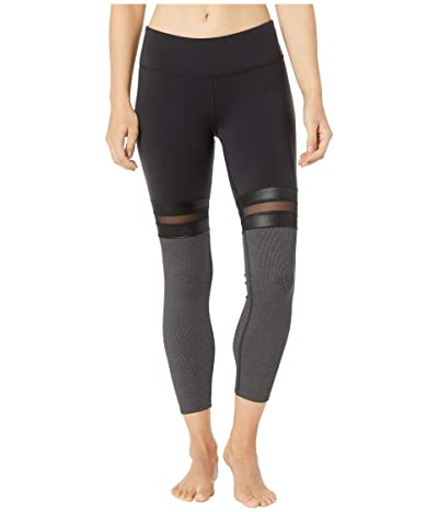 ALO 7/8 Player Leggings (Black/Charcoal Heather) Women