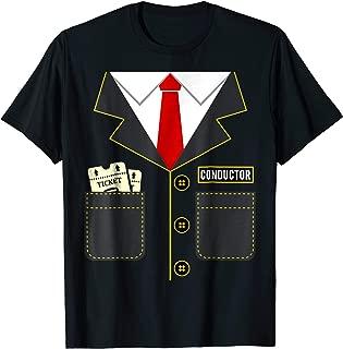 Train Conductor Halloween Costume T-Shirt Locomotives