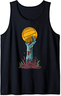 Zombie Hands Water Polo Ball Funny Halloween Horror Scary Tank Top