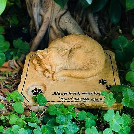 猫 墓石 ペット お墓 猫 置物 ユニックなデザイン ペット仏具 ペット記念品 メモリアル グッズ 記念石 樹脂製