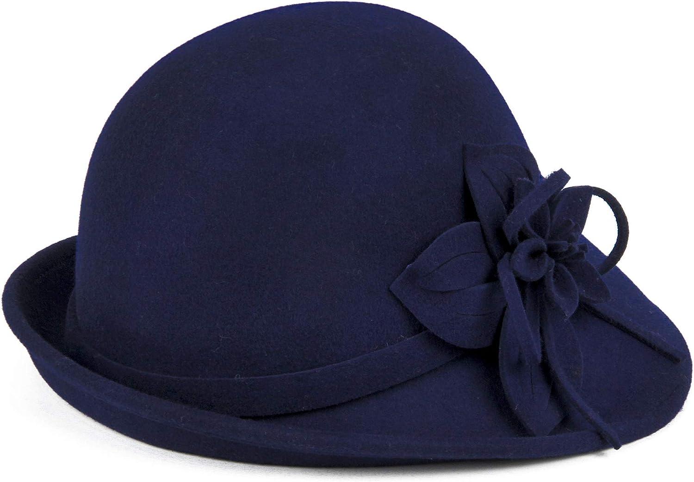 Woman Genuine Vintage Mail order Classic 100% Wool Wide Brim Panama B Fedora Ladies