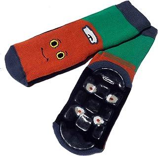 Weri Spezials, Calcetines para bebés y niños (plástico ABS) En verde esmeralda y rojo.