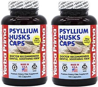Psyllium Husks Caps - 180 caps (Pack of 2)
