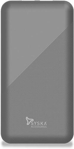 Syska 10000 Mah Li Polymer P1015B Power Core100 Power Bank Grey