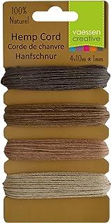 Vaessen Creative Hanfschnur aus biologischem Hanf-Natur 4 x 10 m, Hemp, multicoulor, 16.3 x 7.9 x 1 cm, 4-Einheiten