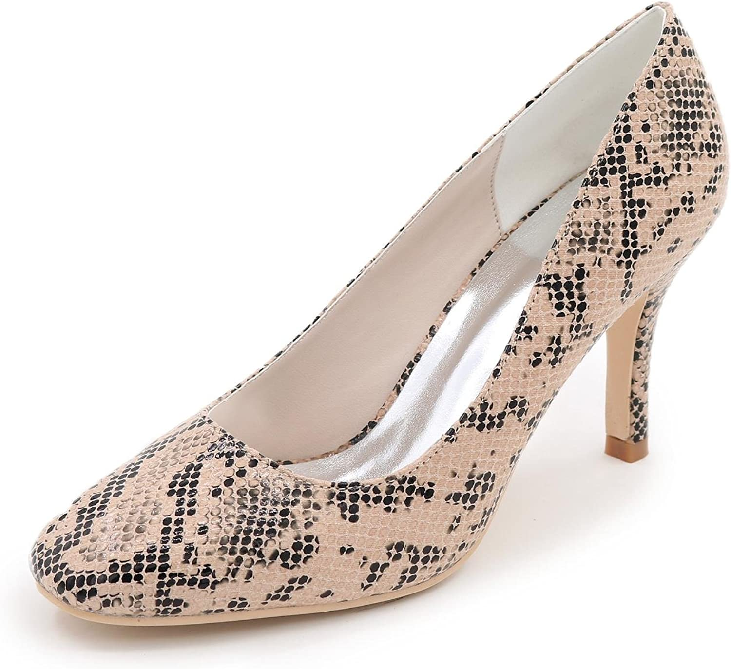L@YC Women's Wedding shoes High-Heeled shoes Leather Dinner Party Party Multi-color Large Size