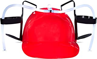 Big Mo's Toys Beer and Soda Drinking Helmet Party Hat - Beer and Soda Guzzler Helmet, Fun Party Drinking Hat, Party Gags Cap