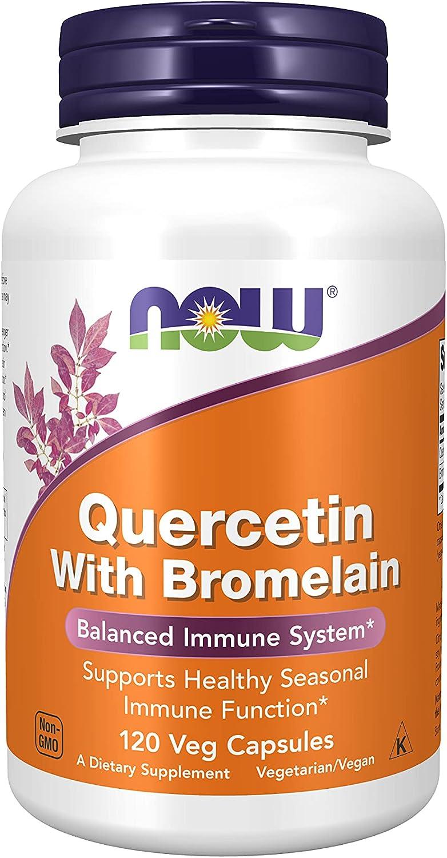 NOW Supplements, Quercetin with Bromelain, 120 Veg Capsules