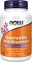 NOW Supplements Quercetin with Bromelain Balanced Immune System, Pineapple, 120 Veg Capsules