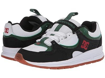 DC Kids Kalis Lite (Little Kid/Big Kid) (Black/Red/Green) Boys Shoes